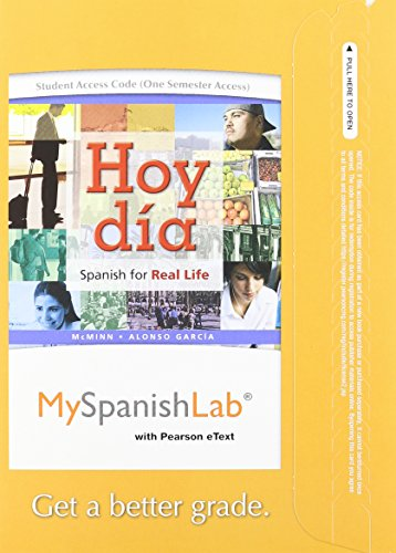 9780205983117: Hoy dia: Spanish for Real Life, Volume 2, Books a la Carte Plus MySpanishLab -- Access Card Package