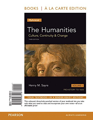 9780205983216: 1: Humanities: Culture, Continuity and Change, The, Volume I, Books a la Carte Edition (3rd Edition)