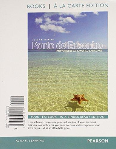 9780205984435: Ponto de Encontro: Protugueses as a World Language, Books a la Carte Plus MyPortugueseLab one semester with eText -- Access Card Package (2nd Edition) (World Languages)