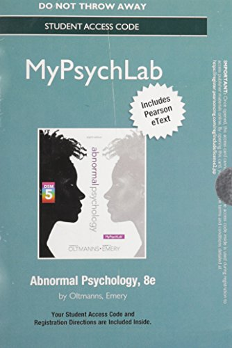 9780205985838: NEW MyPsychLab with Pearson eText -- Standalone Access Card -- for Abnormal Psychology (8th Edition)