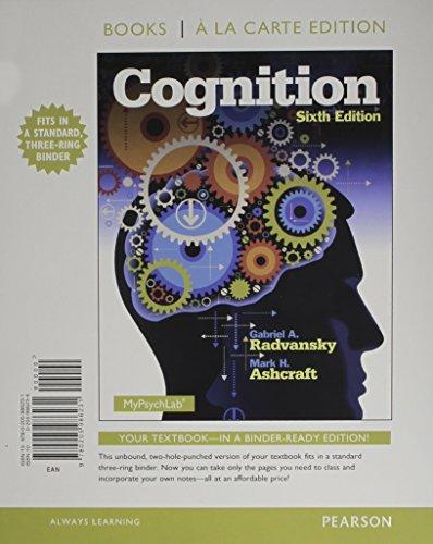 9780205986231: Cognition, Books a la Carte Edition (6th Edition)