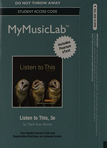 9780205986699: MyMusicLab with Pearson eText - Standalone Access Card - for Listen to This (3rd Edition)