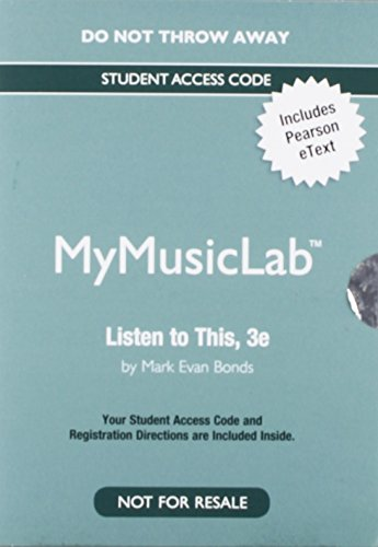 9780205986835: NEW MyMusicLab with Pearson eText -- Valuepack Access Card - for Listen to This