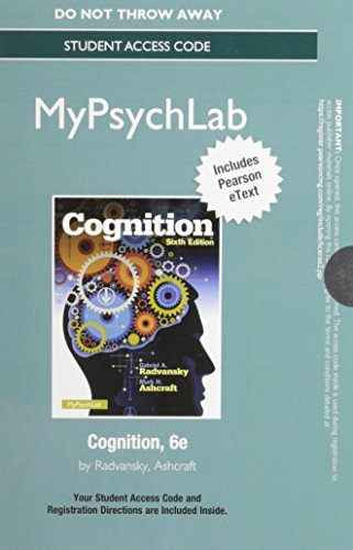 9780205987061: NEW MyPsychLab with Pearson eText -- Access Card -- for Cognition (6th Edition)