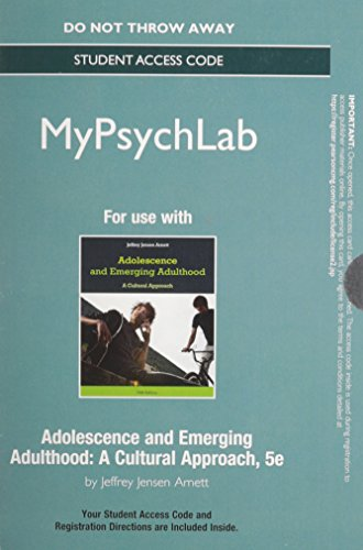 9780205987986: NEW MyPsychLab -- Standalone Access Card -- for Adolescence and Emerging Adulthood (5th Edition)