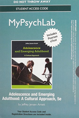 9780205987993: NEW MyPsychLab with Pearson eText -- Standalone Access Card -- for Adolescence and Emerging Adulthood, 5/e (5th Edition)