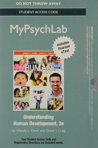 9780205988020: NEW MyPsychLab with eText -- Standalone Access Card -- for Understanding Human Development (3rd Edition)