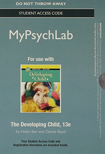 9780205988051: NEW MyPsychLab without Pearson eText -- Standalone Access Card -- for The Developing Child (13th Edition)