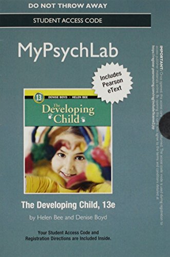 9780205988068: NEW MyPsychLab with eText -- Standalone Access Card -- for The Developing Child (13th Edition)