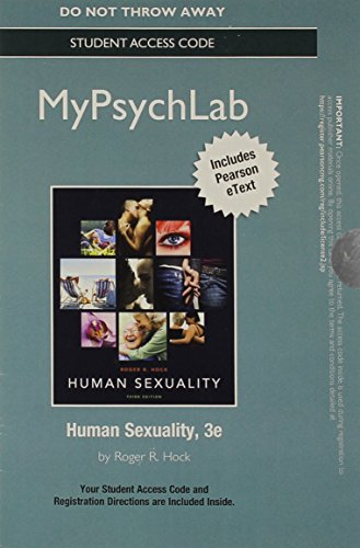 9780205988198: NEW MyPsychLab with Pearson eText -- Standalone Access Card -- for Human Sexuality (3rd Edition)