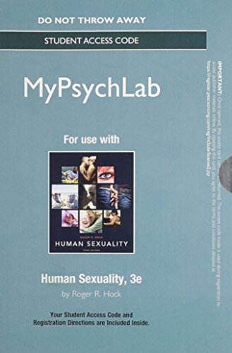 9780205988211: NEW MyPsychLab without Pearson eText -- Standalone Access Card -- for Human Sexuality (3rd Edition)