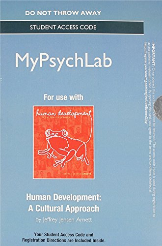 9780205988310: NEW MyPsychLab without Pearson eText -- Standalone Access Card -- Human Development: A Cultural Approach