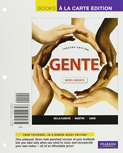 9780205989645: Gente: Nivel basico, Books a la Carte Plus mySpanishLab with eText (multi semester access) -- Access Card Package (3rd Edition)