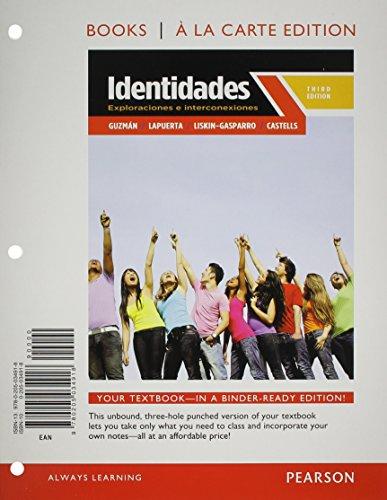 9780205989829: Identidades: Exploraciones e interconexiones, Books a la Carte Plus MySpanishLab with eText (multi semester access) -- Access Card Package (3rd Edition)