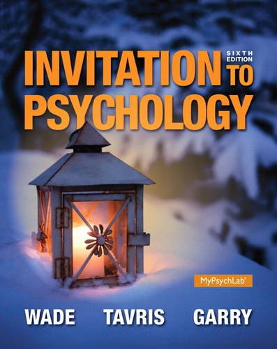 9780205990290: Invitation to Psychology (6th Edition)