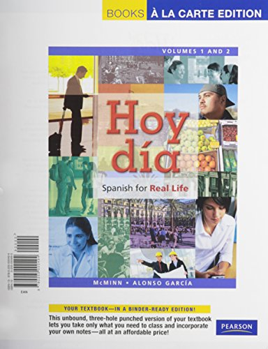 9780205992294: Hoy día: Spanish for Real Life, Volumes 1 and 2, Books a la Carte Plus MySpanishLab (multi semester access) -- Access Card Packge