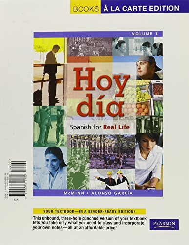 9780205992300: Hoy día: Spanish for Real Life, Volume 1, Books a la Carte Plus MySpanishLab (one semester access) -- Access Card Package