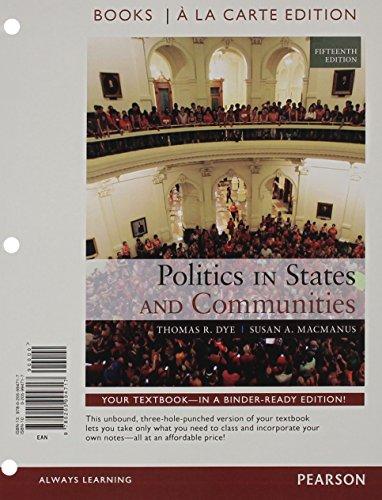 9780205994717: Politics in States and Communities Books a la Carte Edition (15th Edition)