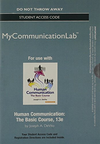 9780205995950: NEW MyCommunicationLab without Pearson eText -- Standalone Access Card -- for Human Communication (13th Edition)