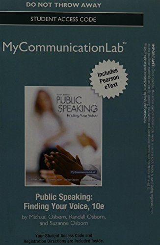 9780205996582: NEW MyLab Communication with Pearson eText --Standalone Access Card-- for Public Speaking (10th Edition)