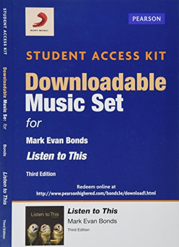 9780205996681: Sony Music Download Access Card for Listen to This (3rd Edition)
