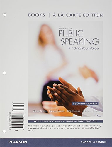 9780205996940: Public Speaking: Finding Your Voice, Books a la Carte Edition (10th Edition)