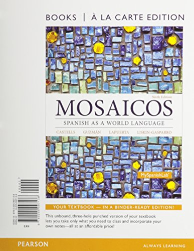 9780205997138: Mosaicos: Spanish as a World Langugae, Books a la Carte (6th Edition)