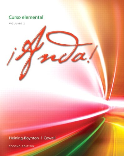 9780205998302: ¡Anda! Curso elemental, Volume 2 Plus MySpanishLab with eText (one semester) -- Access Card Package (2nd Edition)