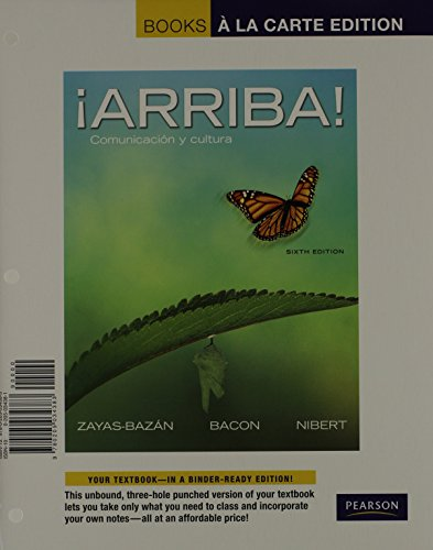 9780205998333: ¡Arriba!: Comunicación y cultura, Books a la Carte Plus MySpanishLab with eText multi semester -- Access Card Packge (6th Edition)