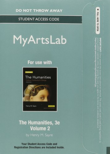 9780205998425: 2: NEW MyArtsLab without Pearson eText -- Standalone Access Card -- for The Humanities: Culture, Continuity and Change, Volume II (3rd Edition)