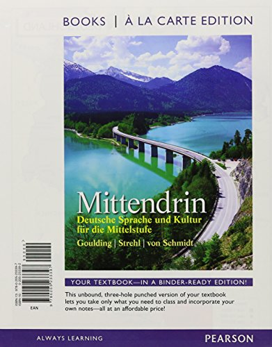 9780205998487: Mittendrin: Deutsche Sprache und Kultur fur die Milelstufe, Books a la Carte Plus MyGermanLab with eText (multi semester access) -- Access Card Package