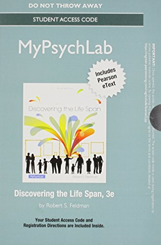 9780205999644: NEW MyPsychLab with Pearson eText -- Standalone Access Card -- for Discovering the Life Span (3rd Edition)