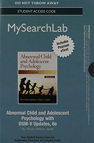 9780205999835: MySearchLab with Pearson eText -- Access Code Card -- for Abnormal Child and Adolescent Psychology with DSM-V Updates (8th Edition)