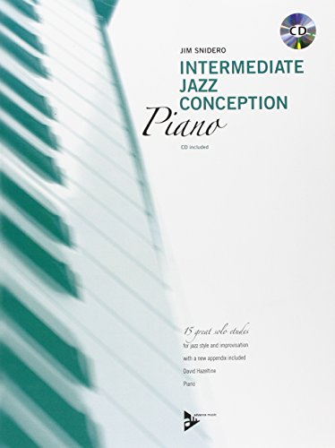 9780206304423: Intermediate Jazz Conception -- Piano: 15 Great Solo Etudes (English/German Language Edition) (Book & CD)