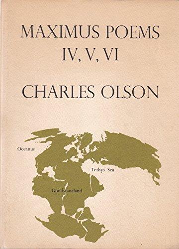 Imagen de archivo de Maximus poems IV, V, VI a la venta por Ezekial Books, LLC