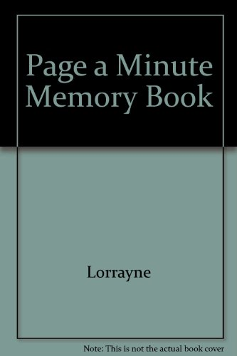 9780207154423: Page a Minute Memory Book
