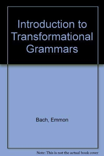 9780207470110: Introduction to Transformational Grammars