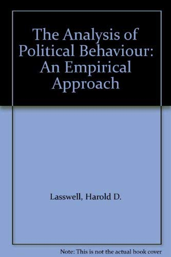 9780208004109: The Analysis of Political Behaviour: An Empirical Approach