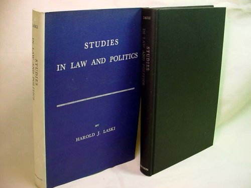 9780208007315: Studies in Law and Politics