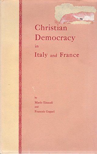 Christian Democracy in Italy and France