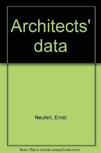 9780208011633: Architects' data [Hardcover] by Neufert, Ernst