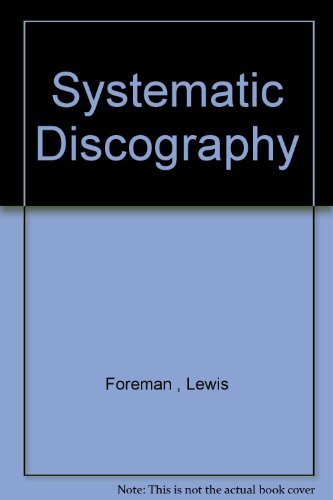 9780208011978: Systematic discography