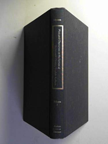 Plots and Characters in the Fiction of Eighteenth-Century English Authors, Volume I: Jonathan Swift...
