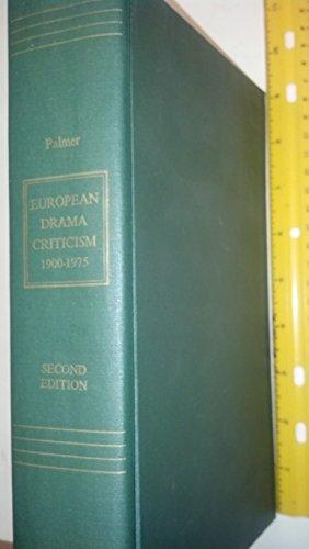 European Drama Criticism, 1900-1975: Palmer, Helen H.