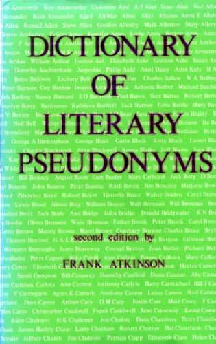 9780208016621: Dictionary of literary pseudonyms: A selection of popular modern writers in English