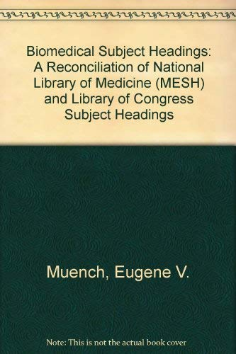 9780208017475: Biomedical Subject Headings: A Reconciliation of National Library of Medicine (Mesh and Library of Congress Subject Headings)