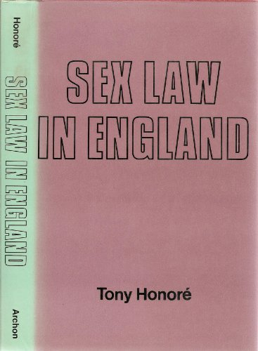 9780208017642: Sex Law in England