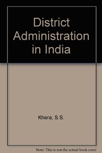 9780210269138: District Administration in India