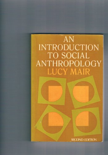 9780210336878: Introduction to Social Anthropology