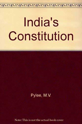 India's Constitution: Pylee, M.V.
